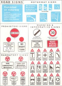 UK road signs - 1962