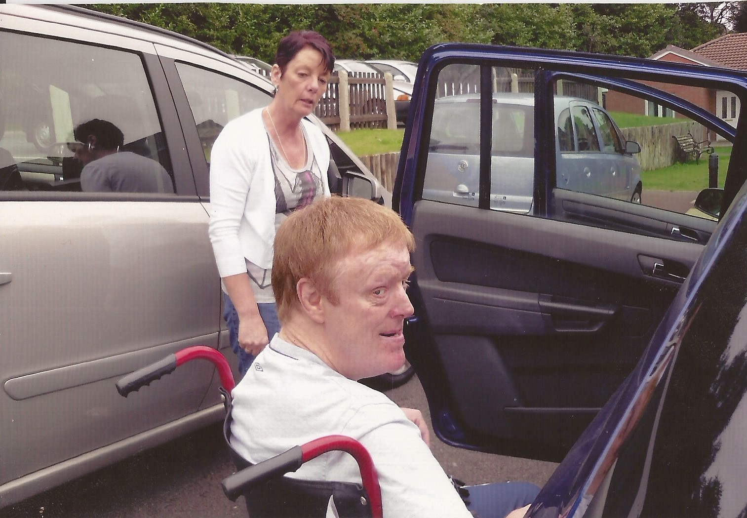 Andrew with carer Barbara