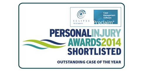 Hudgell Solicitors shortlisted for 'outstanding case of the year'