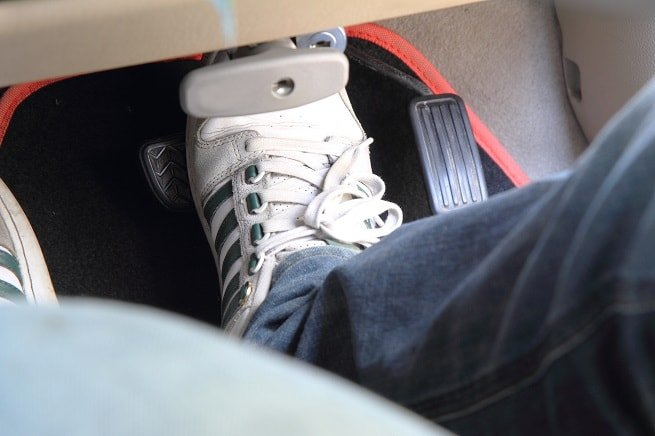 Foot on brake pedal   Stopping Distances in the Highway Code could present road safety risk