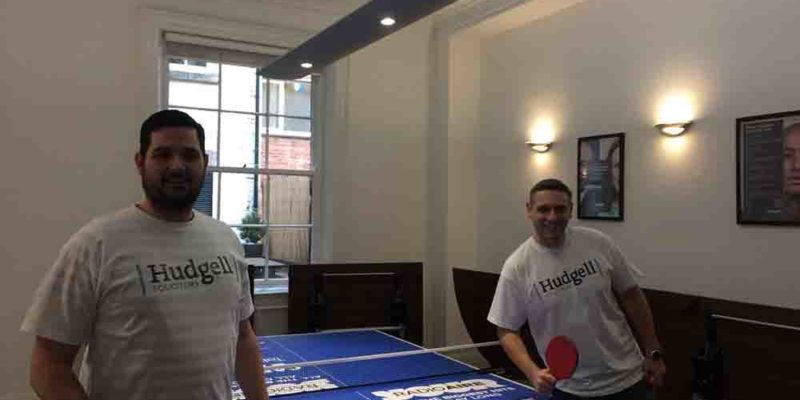 Leeds solicitors hoping practice makes perfect as they brush up on ping pong skills ahead of Radio Aire challenge match