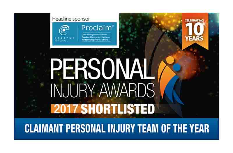 Hudgell Solicitors' Clinical Negligence and Personal Injury teams both shortlisted for national claims awards