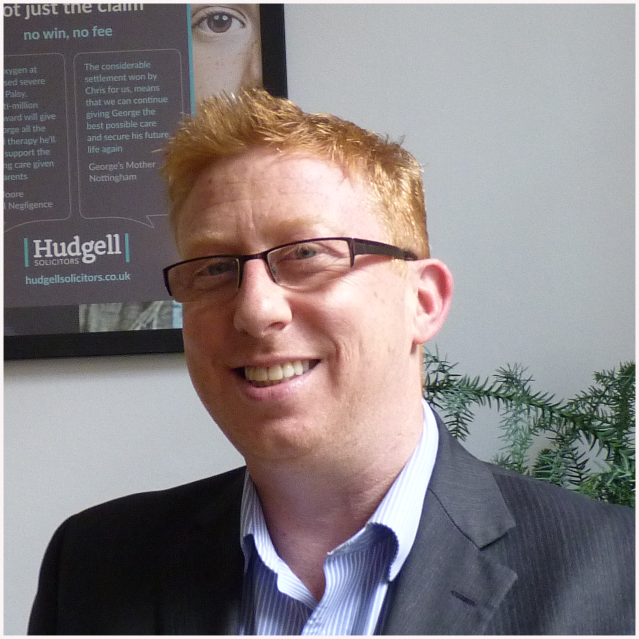 Specialist solicitor Samuel McFadyen shortlisted for national 'Unsung Claims Hero' award for helping seriously injured towards recovery