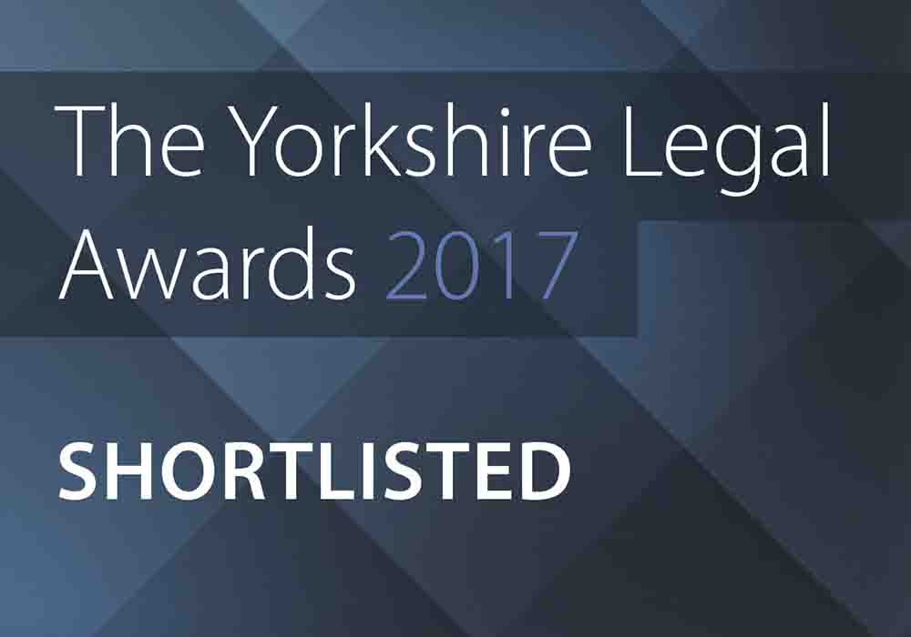 Continued growth of Hudgell Solicitors recognised with shortlisting at Yorkshire Legal Awards in Law Firm of Year category