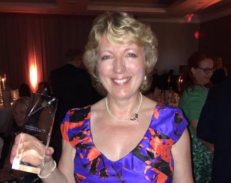 Amanda Stevens receives 'Outstanding Individual Achievement' honour at Rehabilitation Awards