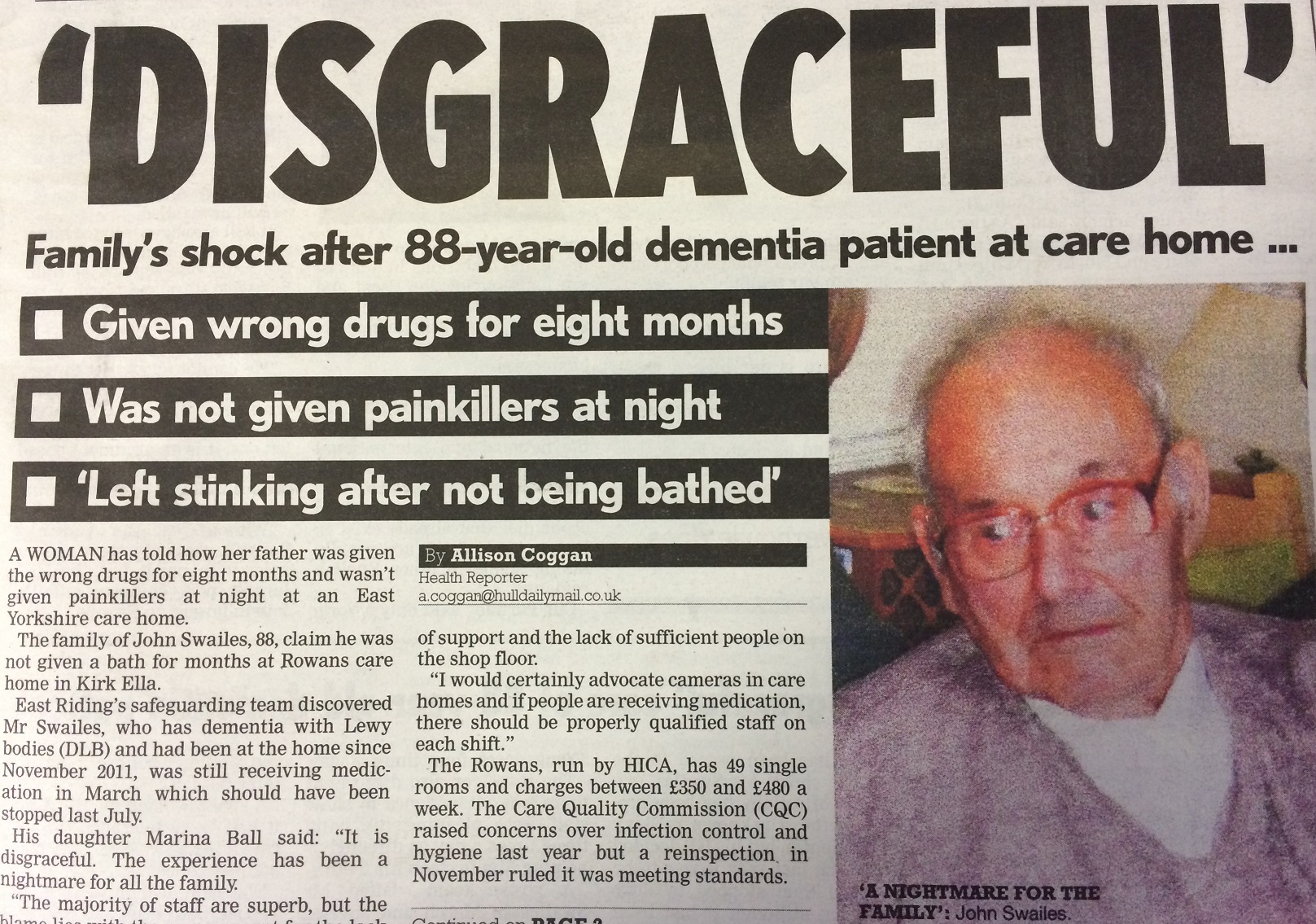 No excuses for care homes failing to provide basic standards of care