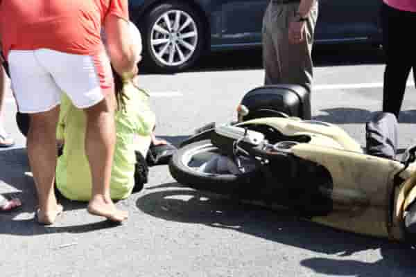 £21,000 damages for woman hit by 'filtering' motorbike as case settled on basis of equal blame