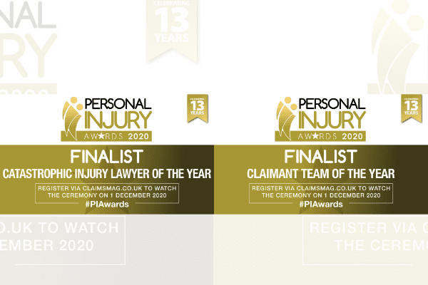 Personal injury team shortlisted for prestigious legal awards on back of five-star reviews and expanded services