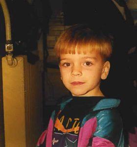 Lewis Skelton as a child