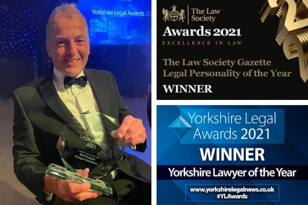 Neil Hudgell named national Legal Personality of the Year and Yorkshire Lawyer of the Year