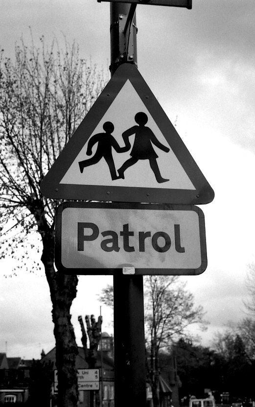 Patrol highway sign