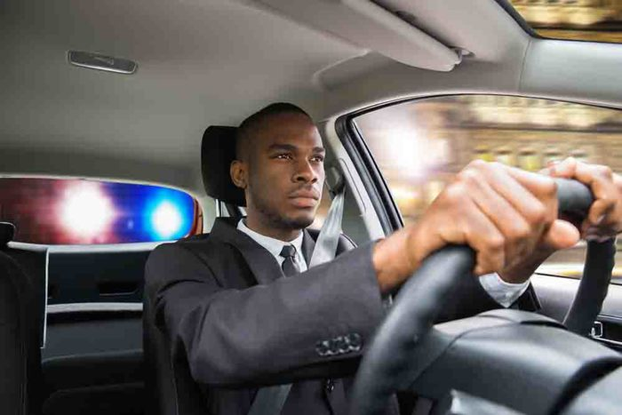 Businessman Chased By Police While Driving Car