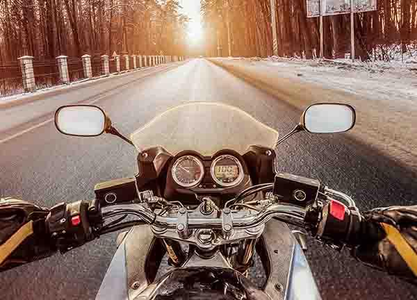 motorbike in winter