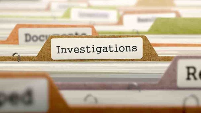 Investigations File Label.