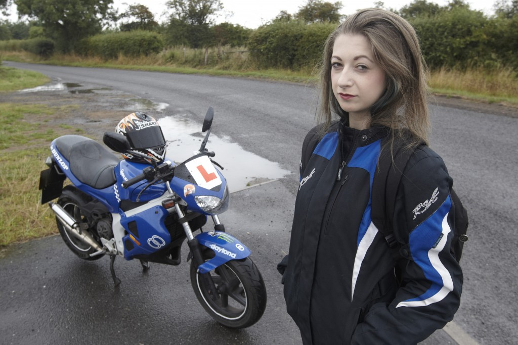 Carrie Dickenson with her motorbike