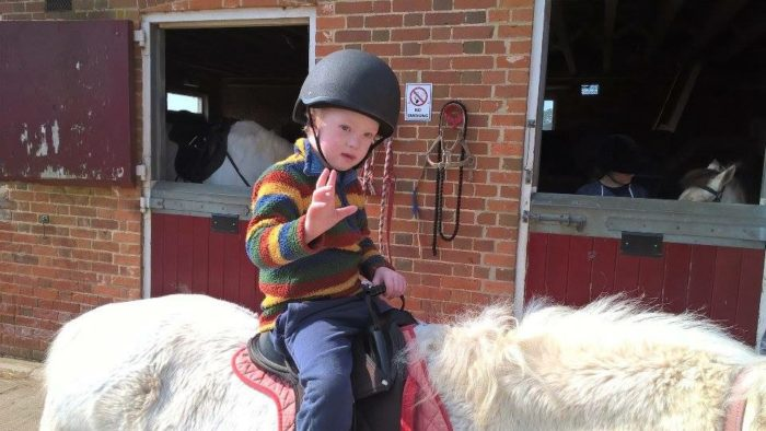 James on horse