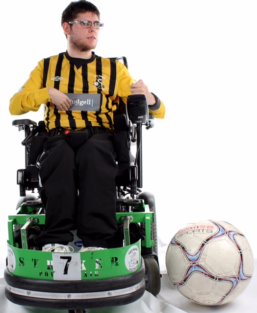 Kai Gill wheelchair sports new kit with ball