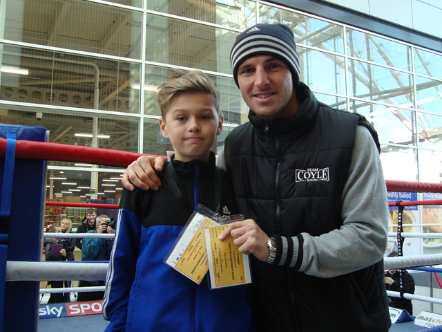 Tommy Coyle with Kailem Anderson