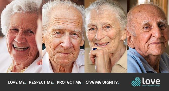 Launch graphic for LOVE campaign - CCTV in care homes