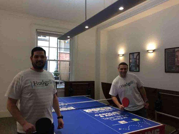 Leeds ping pong team