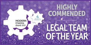 Modern Claims Awards 2015 Highly Commended