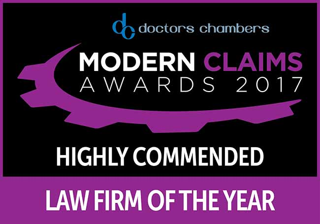 Modern Claims Awards 2017 Highly Commended