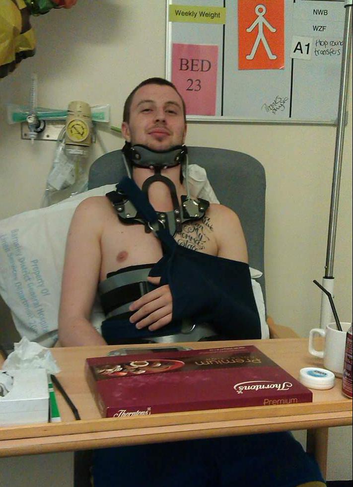 James Logan in Hospital