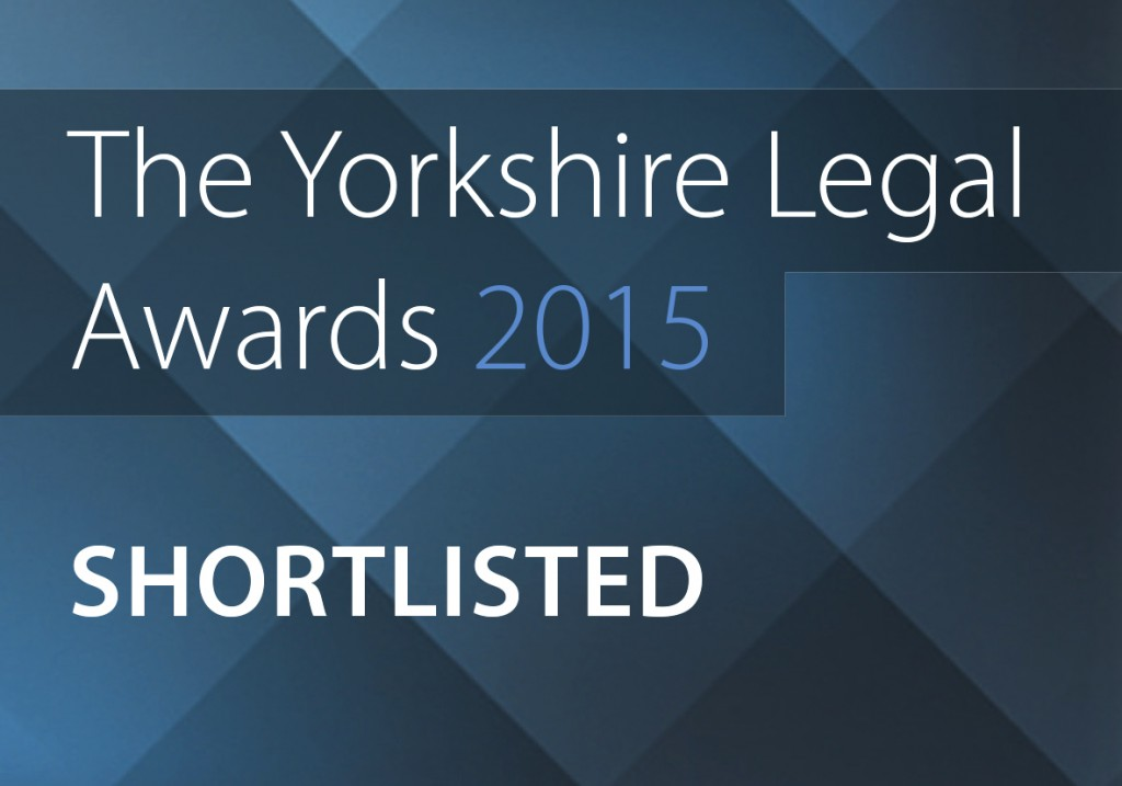 Yorkshire legal awards shortlisted Logo