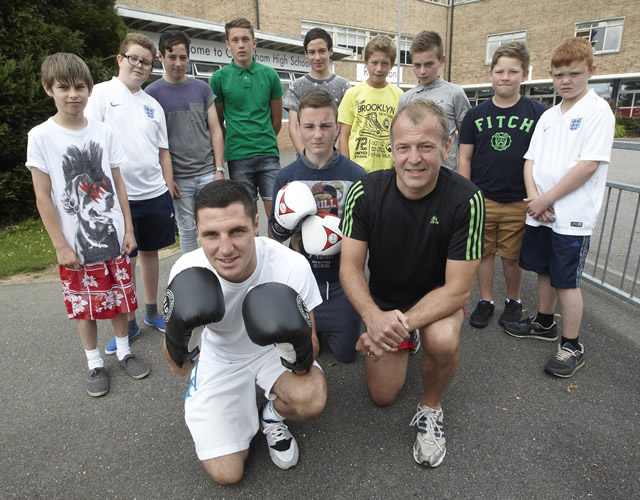 Neil Hudgell and Tommy Coyle with Box clever 2 kids