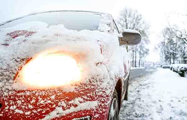 car-light-snow-weather