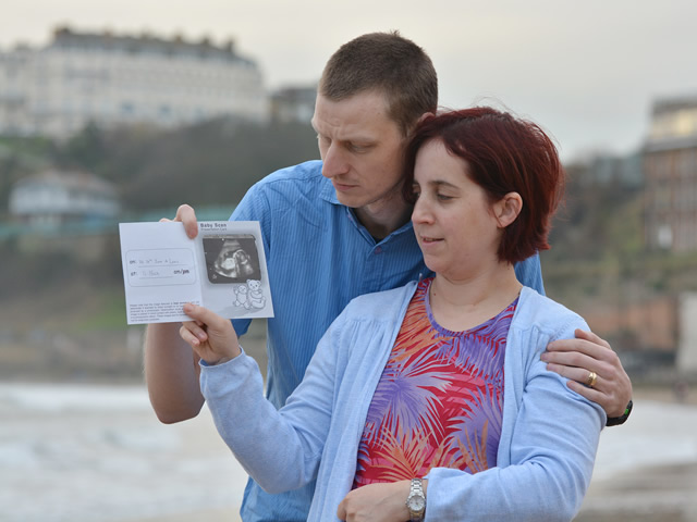 couple with ultra sound picture