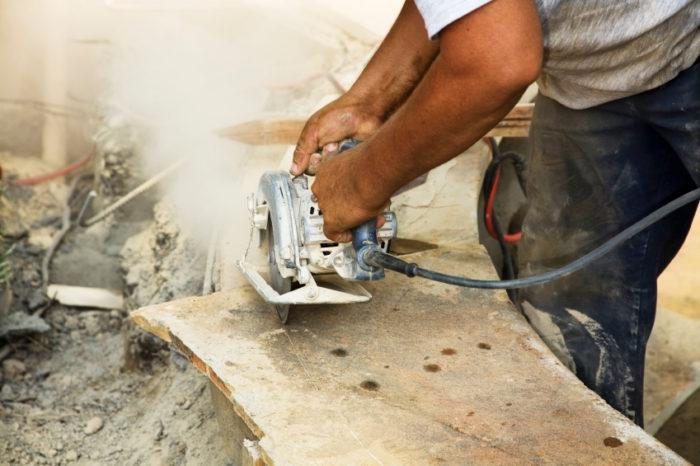 Cutting flagstone