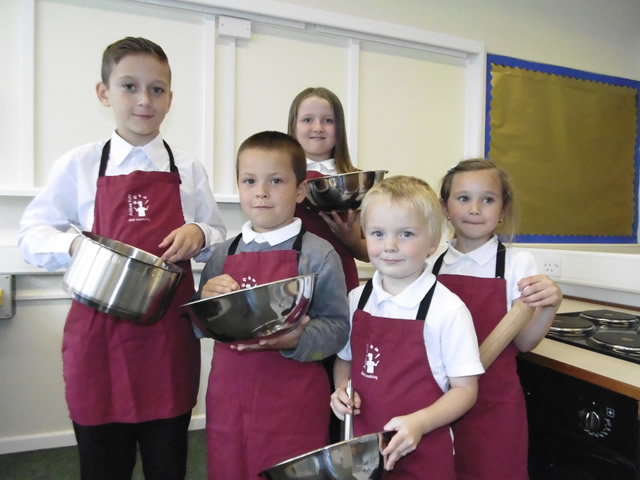 Primary School Pupils cooking Classes