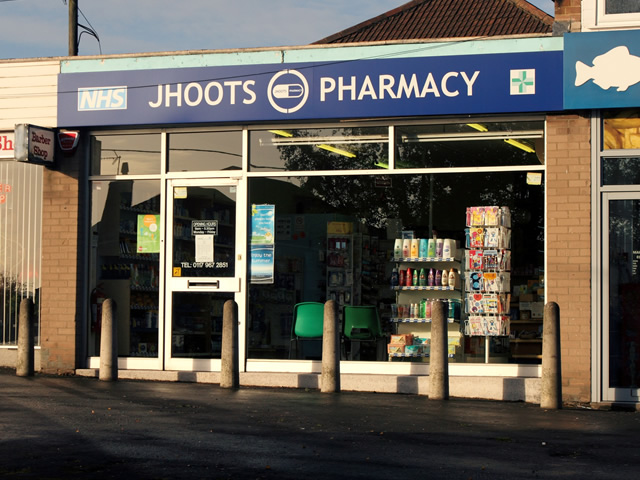 JHoots Pharmacy front