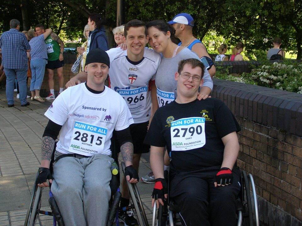 Wheel chair race - Matthew Burke