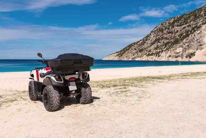 Quad bike on beach