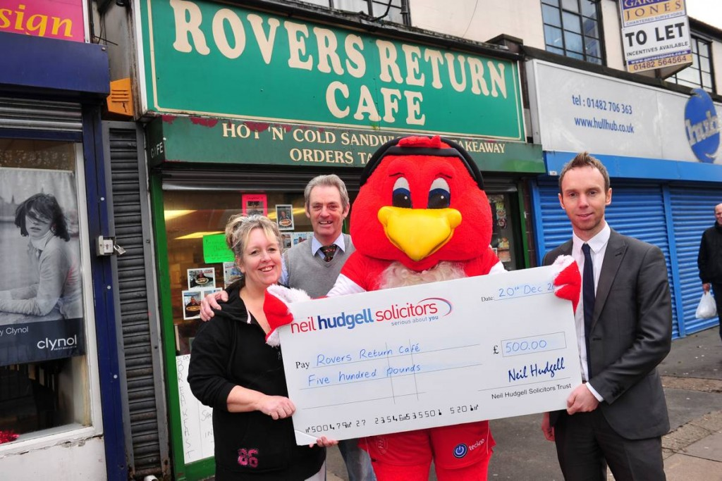 Rovers Cafe with Cheque